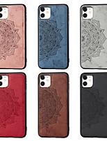 """Недорогие -Кейс для Назначение Apple iPhone 11 / iPhone 11 Pro / iPhone 11 Pro Max С узором Кейс на заднюю панель Цветы Ткань """"Оксфорд"""""""