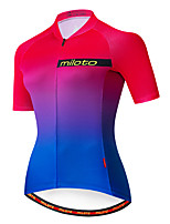 cheap -Miloto Women's Short Sleeve Cycling Jersey Blue+Pink Bike Jersey Top Mountain Bike MTB Road Bike Cycling Breathable Quick Dry Sports Clothing Apparel / Stretchy