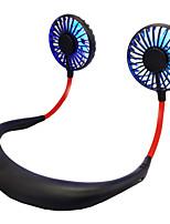 cheap -Cross Border Shining Halter Fan Mini USB Recharge Small Fan Portable Lazy Fan Desktop Fan Douyin