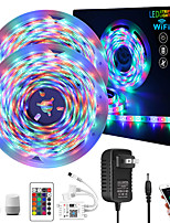 cheap -ZDM Intelligent Dimming App Control Flexible Led Strip Lights Waterproof 10M (2*5M) 2835 RGB SMD IR 24 Key Controller with Installation Package 12V 2A Adapter Kit