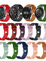 cheap -Watch Band for Gear S3 Classic / Samsung Galaxy Watch 46mm / Huawei Watch GT 2 Samsung Galaxy Sport Band Silicone Wrist Strap