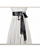 cheap -Plain Poplin Birthday / Party / Evening Sash With Belt Women's Sashes