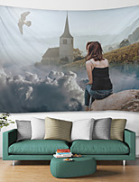 cheap -Alpine ViewDigital Printed Tapestry Decor Wall Art Tablecloths Bedspread Picnic Blanket Beach Throw Tapestries Colorful Bedroom Hall Dorm Living Room Hanging