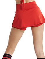 Недорогие -Жен. Йога юбка Сплошной цвет Белый Красный Зеленый Йога Пилатес Нижняя часть Спорт Спортивная одежда удобный Дышащий Быстровысыхающий Влагоотводящие Слабоэластичная Свободный силуэт