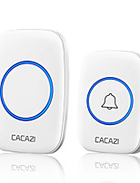 cheap -CACAZI A10 Wireless Doorbell Waterproof 100-240V 300M Range Music Door Bell Home 60 Chimes Door Ring 1 Receiver 1 Transmitter