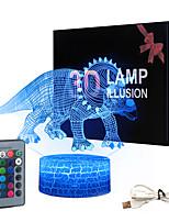 Недорогие -игрушки-динозавры для детей 3d ночной светильник ночник 16 цветов меняются с помощью пульта дистанционного управления лучшие подарки на день рождения для мальчиков и девочек малышей в возрасте 1 2 3 4