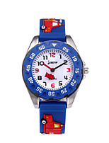 cheap -Kids Sport Watch Quartz 30 m Water Resistant / Waterproof Day Date Analog Cartoon Fashion - Blue One Year Battery Life