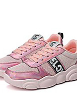 cheap -Women's Trainers / Athletic Shoes Summer Flat Heel Round Toe Sporty Athletic Slogan Mesh / PU Running Shoes White / Black / Pink