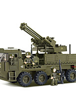 cheap -Building Blocks Educational Toy 344 pcs Military Cartoon compatible Plastic Shell Legoing Exquisite Hand-made Decompression Toys DIY Military Vehicle Boys and Girls Toy Gift / Kid's