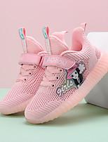 Недорогие -Девочки Удобная обувь Flyknit Спортивная обувь Большие дети (7 лет +) Беговая обувь Пряжки Розовый / Черный Весна / Осень