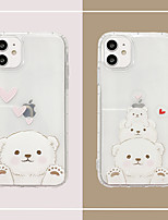 cheap -Case For Apple iPhone 11 /11 Pro / 11 Pro Max/SE2020/6/7/8/x/xr/xsmax/7p/6p Ultra-thin / Transparent Back Cover Cartoon TPU