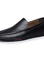 cheap -Men's Summer Casual Daily Loafers & Slip-Ons PU Non-slipping Black