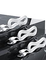 Недорогие -Rock S5 1 м Micro USB / молнии / кабель типа C 3 A плоский / быстрая зарядка Tpe USB-кабель-адаптер