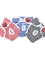 cheap -Dog Pants Dog Clothes Black Red Blue Costume Husky Golden Retriever Border Collie Cotton Stripes Unique Design S M L XL