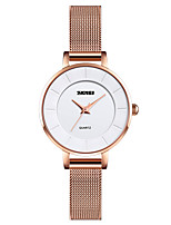 cheap -SKMEI Ladies Quartz Watches Elegant Fashion Rose Gold Stainless Steel Chinese Quartz Rose Gold Cute Creative Casual Watch 30 m 1 pc Analog One Year Battery Life