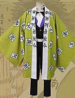 Недорогие -Вдохновлен Убийца Демонов: Кимэцу но Яиба Аниме Косплэй костюмы Японский Косплей Костюмы Жилетка Кофты Брюки Назначение Муж. / Ожерелья / Пояс на талию / браслеты