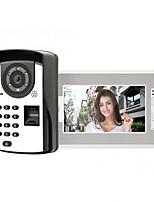 Недорогие -7-дюймовый проводной видеодомофон домашний домофон с паролем отпечатков пальцев разблокировки монитора функция p812m11