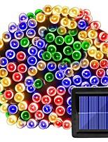 Недорогие -12м Гирлянды 100 светодиоды 1 комплект Разные цвета Хэллоуин Рождество Водонепроницаемый Работает от солнечной энергии Внутренний дворик Солнечная энергия