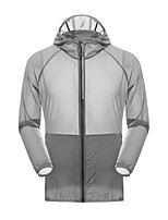 cheap -Men's Hiking Skin Jacket Hiking Jacket Summer Outdoor Waterproof Sunscreen Breathable Quick Dry Jacket Hoodie Top Spandex Running Hunting Fishing Grey / Blue / Dark Navy / Camping / Hiking / Caving