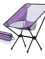 cheap -Camping Chair Portable Foldable Washable Comfortable Aluminum Alloy for 1 person Fishing Beach Camping / Hiking / Caving Traveling Autumn / Fall Summer Light Purple Sky Blue White
