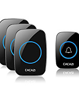 cheap -CACAZI A10 Wireless Doorbell Waterproof 100-240V 300M Range Door Bell Home 60 Chimes Door Ring High Quality