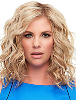 cheap -Synthetic Wig Curly Matte Side Part Wig Long Light golden Synthetic Hair 14 inch Women's Sexy Lady curling Fluffy Blonde