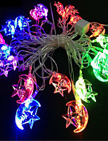 cheap -6M 40 leds String Lights Star Moon Angle Christmas Light Outdoor New Year Decoration Garland Light for Home Party Wedding