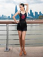 cheap -Latin Dance Vest Pattern / Print Women's Performance Sleeveless Milk Fiber