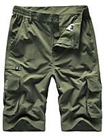 "cheap -Men's Hiking Shorts Hiking Cargo Shorts Summer Outdoor 10"" Loose Breathable Quick Dry Sweat-wicking Comfortable Cotton Shorts Bottoms Camping / Hiking Hunting Fishing Dark Grey Army Green Khaki M L"
