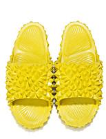 cheap -Women's Slippers & Flip-Flops Summer Flat Heel Open Toe Daily PU Light Yellow / Yellow / Light Green