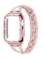 cheap -For Apple Watch Band ladies strapCase 38mm / 42mm / 40mm / 44mm diamond iwatch series stainless steel strap 5 4 3 2 1 bracelet