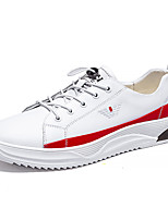 cheap -Men's Summer Casual Daily Sneakers PU Non-slipping White / Yellow / White / Black Color Block