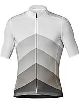 Недорогие -21Grams Муж. С короткими рукавами Велокофты Черный / Белый Велоспорт Джерси Верхняя часть Горные велосипеды Шоссейные велосипеды Устойчивость к УФ Дышащий Быстровысыхающий Виды спорта Одежда