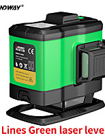 cheap -SW393G Sndway 3D 12 lines Green Beam Laser Level High Precision Self-Leveling Cross Line Lazer Level Horizontal & Vertical Laser-Level