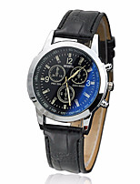 cheap -Men's Dress Watch Quartz Stylish Leather Black / Brown Cute Casual Watch Analog - Digital Casual Fashion - Black Blue Brown One Year Battery Life