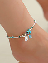 cheap -Anklet Elegant Trendy Ethnic Women's Body Jewelry For Date Birthday Party Alloy Wedding Friends White 1 Piece