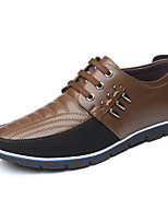 cheap -Men's Summer / Fall Classic / Casual Daily Office & Career Sneakers Faux Leather Non-slipping Wear Proof Light Brown / Dark Brown / Black
