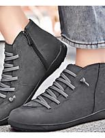 cheap -Women's Boots Fall & Winter Flat Heel Round Toe Daily PU Mid-Calf Boots Black / Brown / Gray