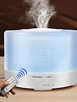 Недорогие -500 мл увлажнитель воздуха пульт дистанционного управления эфирное масло прохладный туман увлажнитель ароматерапия 7 светодиодные фонари увлажнитель воздуха