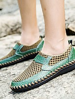 cheap -Men's Summer Outdoor Loafers & Slip-Ons PU Non-slipping Green / Blue / Brown