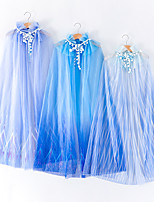 cheap -Princess Elsa Cosplay Costume Cloak Girls' Movie Cosplay Halloween Blue / Dark Blue / Light Blue Cloak Children's Day Masquerade Tulle