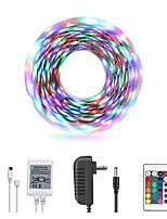 Недорогие -Loende 5м светодиодные полосы RGB TIKTOCK огни 270 светодиодов IP65 водонепроницаемый гибкий с изменением цвета SMD 2835 светодиодные полосы комплект с 24