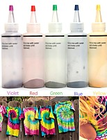 cheap -5 Colors/set One-step Tie Dye Kit DIY Kits for Fabric Textile Craft Arts Clothes for Solo Projects Dyes Paint and Family Fun