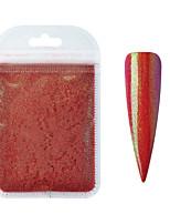 Недорогие -10 г красная русалка пудра для ногтей блестящий пигментная пыль мелкий голографический блеск ногтей художественные украшения маникюр