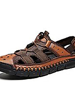 cheap -Men's Summer Casual Daily Sandals PU Non-slipping Dark Brown / Black / Brown