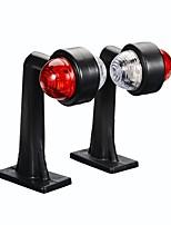 Недорогие -Пара светодиодные габаритные огни индикаторная лампа 12 В / 24 В красный белый для автомобиля грузовик прицеп грузовой автомобиль фургон