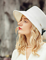 cheap -Headwear Casual Polyester Hats with Bowknot 1pc Wedding / Daily Wear Headpiece