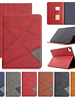 cheap -Case For Apple iPad Air / Mini 3/2/1 /Mini 4/5 Card Holder / with Stand / Flip Full Body Cases Solid Colored / Geometric Pattern PU Leather For iPad Pro 11 2020/New Air 2019 10.5/ipad 10.2/Pro 9.7