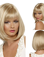 cheap -Synthetic Wig Matte kinky Straight Bob Wig Short Light golden Synthetic Hair 6 inch Women's Fashionable Design Sexy Lady Comfy Blonde