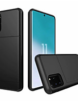 cheap -Case For Samsung Galaxy S9 / S9 Plus / Galaxy S10 Card Holder Back Cover Solid Colored PC For Samsung Galaxy S20 Ultra / S20 / S20 Plus / S10 Plus / S10E